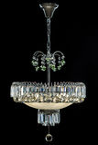 Candelabro de prata contemporâneo isolado no fundo preto Crystal Chandelier fotografia de stock royalty free