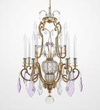 Candelabro de vidro luxuoso ilustração royalty free
