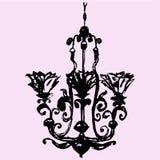 Candelabro decorativo do vintage Fotografia de Stock Royalty Free