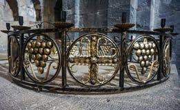 Candelabro do monastério de Sanahin fotografia de stock