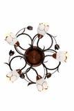 Candelabro em cinco chifres com elementos decorativos torcidos Imagens de Stock Royalty Free