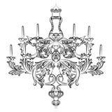 Candelabro excelente de Rich Baroque Classic Fotos de Stock Royalty Free