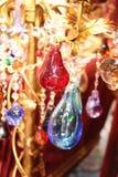 Candelabro feito do vidro Fotografia de Stock Royalty Free