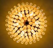 Candelabro leve da bola de cristal Fotos de Stock Royalty Free