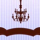 Candelabro no fundo azul Imagem de Stock