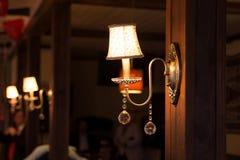 Candelabro no interior interior, luxuoso, vintage, retro Fotografia de Stock Royalty Free