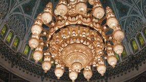 Candelabro no Sheikh Zayed Mesquita Fotografia de Stock Royalty Free