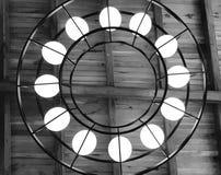 Candelabro preto e branco Fotos de Stock