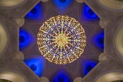 Candelabro Sheikh Zayed Grand Mosque fotografia de stock royalty free