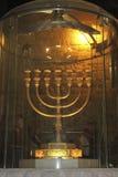 candelabro Siete-ramificado usado en el templo Imagen de archivo