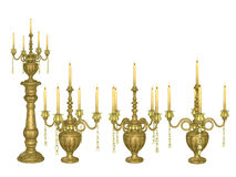 Candelabros antigos Imagens de Stock Royalty Free