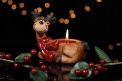 Candelabros formados ciervos Imagen de archivo libre de regalías