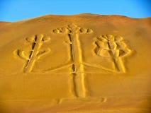 Candelabros, la península de Paracas, Perú Fotos de archivo
