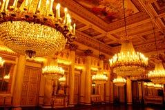 Candelabros no palácio real Imagem de Stock