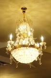 Candelabrum. Beautiful Gold Candelabrum in Restaurant Royalty Free Stock Images