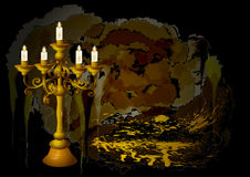 Candelabrum and candles Stock Image