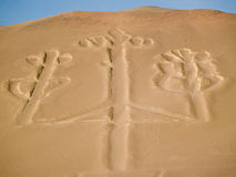 Candelabrum in Paracas national park Royalty Free Stock Photo