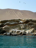 Candelabrum in Paracas. National Park Stock Image