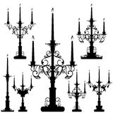 Candelabrum set Stock Photos
