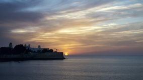 Candelaria πρόχωμα στο ηλιοβασίλεμα Καντίζ Ισπανία στοκ εικόνα