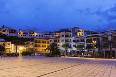 Candelaria panorama at sunrise Royalty Free Stock Image