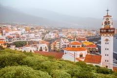 Candelaria-Stadt auf Teneriffa-Insel Lizenzfreies Stockbild