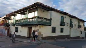 Candelaria straat (Bogota - Colombia) stock afbeelding