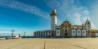 Candelaria, Tenerife, Spain - October 17, 2018: Famous Basilica of Tenerife. Here is the main religious shrine of the island s stock image