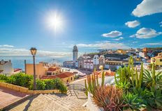 Candelaria town on Tenerife. Landscape with Candelaria town on Tenerife, Canary Islands, Spain royalty free stock images