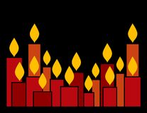 Candele royalty illustrazione gratis