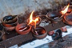 Candele brucianti Fotografie Stock Libere da Diritti