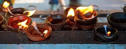 Candele brucianti Immagini Stock Libere da Diritti