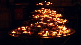 Candele Burning Fotografia Stock