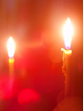 Candele burning romantiche Immagini Stock Libere da Diritti