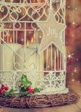 Candele d'annata di Natale Fotografie Stock Libere da Diritti