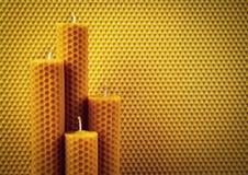 Candele da cera d'api immagine stock libera da diritti