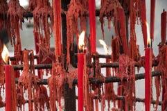 Candele del fuoco Fotografia Stock Libera da Diritti