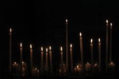 Candele dell'altare Fotografia Stock Libera da Diritti