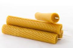 Candele della cera d'api Immagini Stock Libere da Diritti
