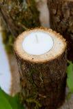 Candele della decorazione di ricevimento nuziale Fotografia Stock