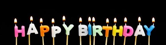 Candele di buon compleanno Fotografia Stock