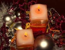 Candele di Christmass Fotografia Stock Libera da Diritti