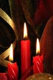 Candele di colore rosso di natale Immagine Stock
