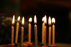Candele di compleanno Immagine Stock Libera da Diritti