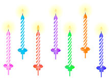 Candele di compleanno Immagini Stock