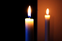 candele di fuoco fotografia stock