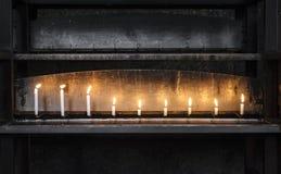 Candele di luce Fotografia Stock Libera da Diritti