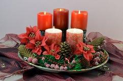 Candele di Natale Fotografie Stock Libere da Diritti