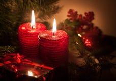Candele di Natale Immagine Stock Libera da Diritti