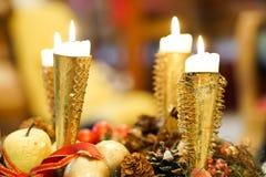 Candele di Natale Fotografia Stock